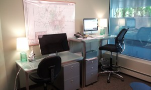 ...with a standing desk.